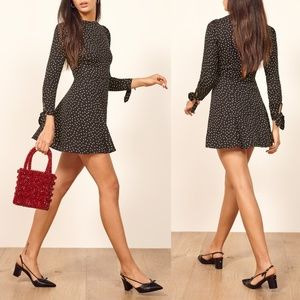 NWT Reformation Samantha Mini Polka Dot Dress 4